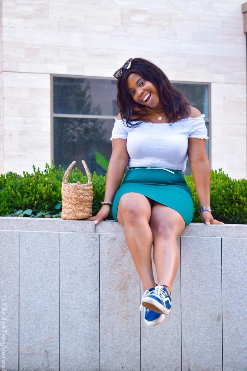 What I Wore : Summer Loving In White And Green!  #iRepNaija