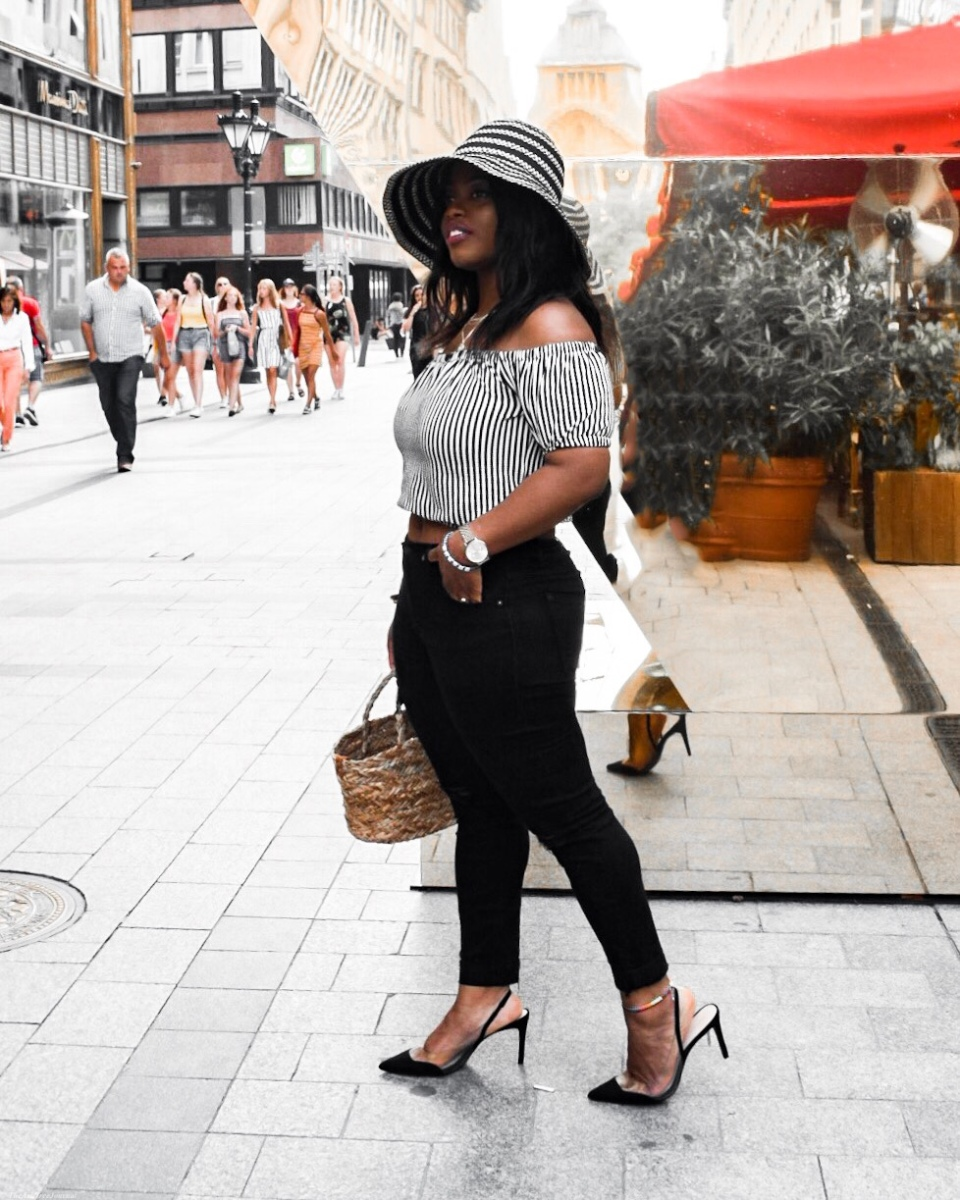 What I Wore: Saying Goodbye To Summer In Striped Monochrome